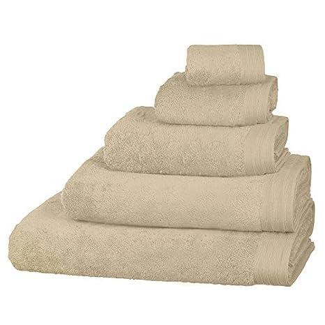 Just Contempo - Toalla (algodón Egipcio, Suave, 600 gsm), Toalla de baño (70 x 125 cm, XL), Beige: Amazon.es: Hogar