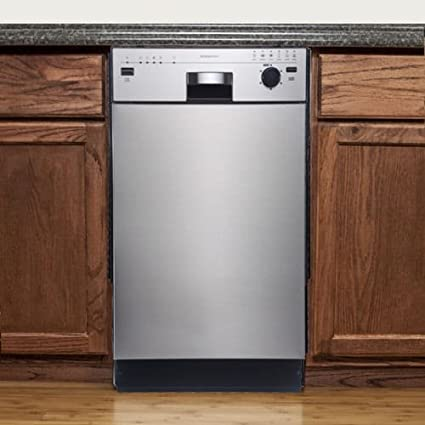 EdgeStar BIDW1801SS 18u0026quot; Built In Dishwasher   Stainless Steel