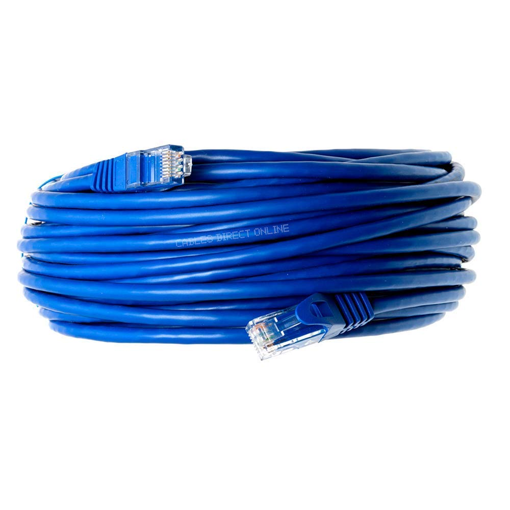 Cables Direct Online Snagless Cat5e Ethernet Network Patch Cable Blue 100 Feet by Cables Direct Online