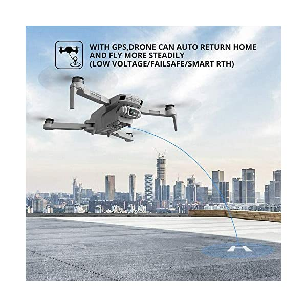 4DRC F8 Drone con Telecamera 4K UHD Drone GPS Pieghevole FPV RC con Ritorno Automatico a Casa, modalità Ritorno Home,Seguimi, Controllo Gestuale, 2 Batterie per 40 Minuti Volo e Valigetta da Trasporto 5 spesavip