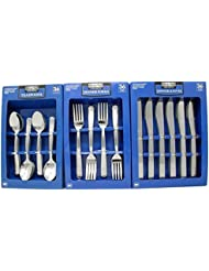 Daily Chef Dinner Forks Spoons And Knives Flatware 108 Pieces Windsor Pattern