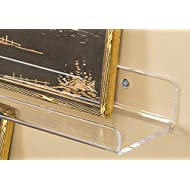 """3 Acrylic Floating Wall Ledges and Display Shelves – Invisible Spice Racks - Vinyl Record/Album or Photo Ledge - Nursery/Kids' Wall Bookshelf - 15"""" L x 4"""" D x 2"""" H (3-Pack) - 5mm Thick, Crystal Clear"""