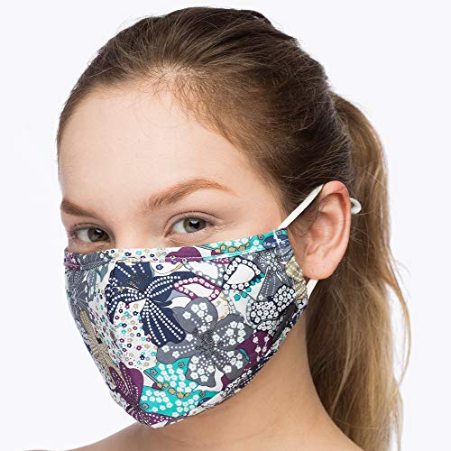 (Debrief Me (1 Mask+4 Filters) Anti Dust Face Mouth Cover Pollution Masks Respirator Comfy Cotton - Dustproof Anti-Bacterial Washable Reusable- Germ Protective Safety Windproof (Blue-Mix1))