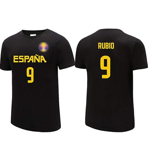Ricky Rubio No.9 España de la camiseta, jerseys de los hombres ...