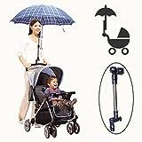 Stroller Umbrella Holder Bracket Pram Adjustable Stroller Chair Umbrella Bar Holder
