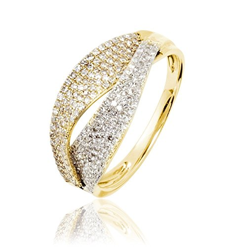 HISTOIRE D'OR - Bague Or et Diamants - Femme - Or 2 couleurs 375/1000