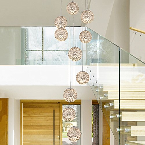 Spiral 10 Light Pendant in Florida - 8