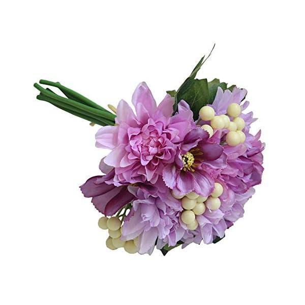 Artificial Flower Dahlia Gifts Bouquet Bridal Office Wedding Garden Home Decor