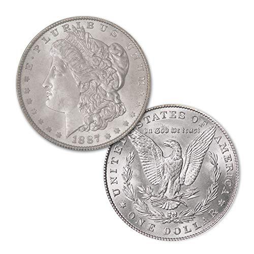 (1887 P Morgan Silver Dollar $1 Brilliant Uncirculated)