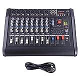 AW 8 Channel 2000 Watt Professional Powered Mixer w/ USB Slot Power Mixing 13x16x5''