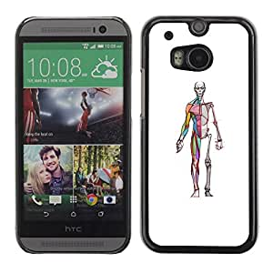 PC/Aluminum Funda Carcasa protectora para HTC One M8 anatomy medicine skeleton doctor surgeon / JUSTGO PHONE PROTECTOR