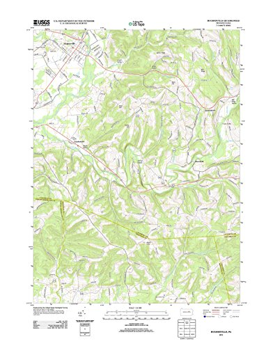Topographic Map Poster - HUGHESVILLE, PA TNM GEOPDF 7.5X7.5 GRID 24000-SCALE TM 2010 (Hughesville Pa)
