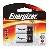 Energizer 123 Lithium 3-Volt Battery, 2-Pack