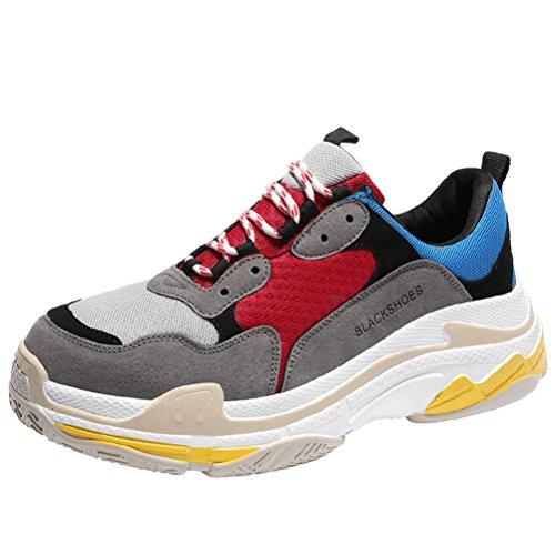 Sufoen 軽量 スニーカー カジュアルシューズ 運動靴 歩きやすい おしゃれ