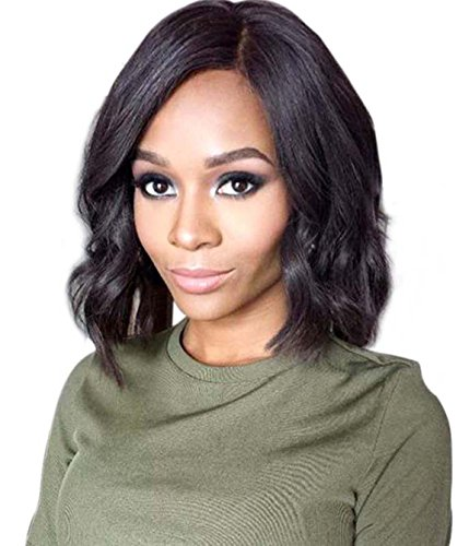 Human Hair Wigs 150% Density Short Full Lace Wigs For Caucasian Women and American African Women Body Wave Glueless Brazilian Remi Human Hair Full Lace Wig With Baby Hair 10