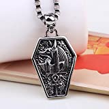 Winter's Secret Medieval the Ancient Egyptian Cleopatra God Guardian Angel Pattern Skull Men Necklace