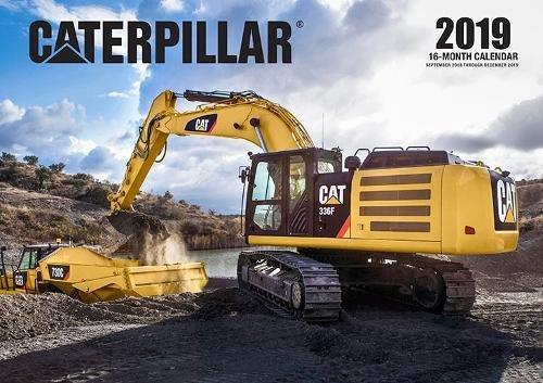Caterpillar 2019: 16 Month Calendar September 2018 Through December 2019