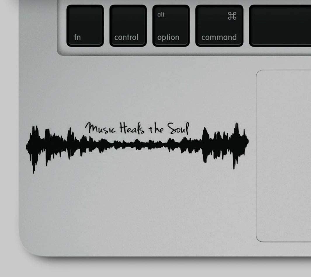 Music Heals The Soul Motivational Quote Printed Trackpad Sticker Decal on Clear Vinyl Compatible with MacBook Pro Retina Air Models