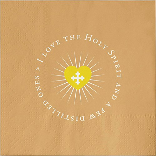 SB Design StudioGratitude Cocktail 20-Count 3-Ply Paper Napkins, Holy Spirit by SB Design Studio
