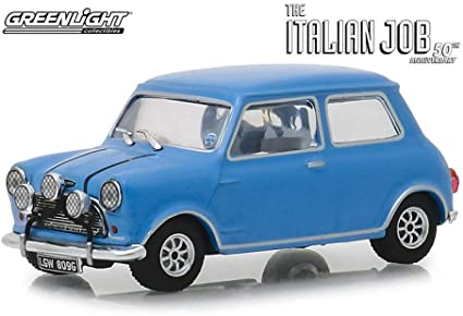 1967 Austin Mini Cooper S 1275 MKI blanco The Italian Job 1:43 GreenLight 86551
