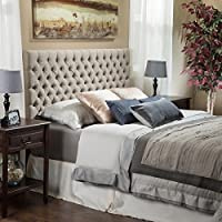 Light Beige Tall Tufted Headboard Traditional Queen/ Full Size Tufted Headboard an Easy Diy Headboard. Our Padded Headboard Full /Queen Studded Headboard Is a Button Nailed Headboard