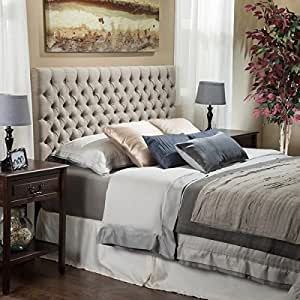 amazon com light beige tall tufted headboard traditional 12090 | 51je1qmej3l sy300 ql70