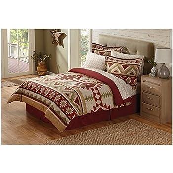 Amazon.com: 6 Piece Tan Red Southwest Comforter Twin Set