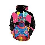 Hooded Sweatshirt, ShenPr Unisex Punk 3D Print Drawstring Hoodie Sweatshirt Long Sleeve Pullover Top Shirt Blouse