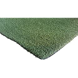 PZG Premium Artificial Grass Rug w/ Drainage Holes & Rubber Backing | 2-Tone Realistic Synthetic Grass Mat | Heavy & Soft Pet Turf | Lead-Free Fake Grass for Dogs or Outdoor Decor | Size: 6' x 4'