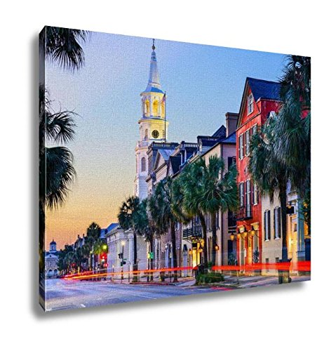 Ashley Canvas Charleston South Carolinuscityscape Historic French Quarter Wall Art Decoration Picture Painting Photo Photograph Poster Artworks, - Quarter Charleston French
