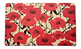Stephan Roberts Anti-Fatigue Poppy Fields Kitchen Mat, 18 x 30'', Multicolor
