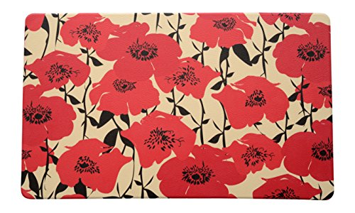 Stephan Roberts Anti-Fatigue Poppy Fields Kitchen Mat, 18 x 30'', Multicolor by Stephan Roberts