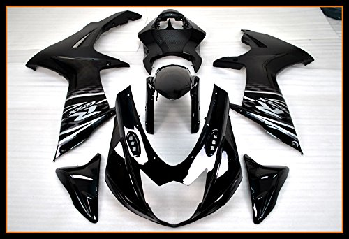 Fairing Set - Protek ABS Plastic Injection Mold Full Fairings Set Bodywork With Heat Shield Windscreen for 2011 2012 2013 2014 2015 2016 2017 Suzuki GSXR600 GSXR750 GSXR 600 750 Black