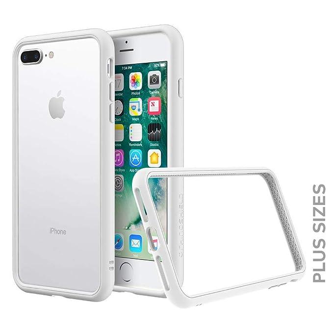 buy popular fe4cb 7d655 RhinoShield Bumper for iPhone 8 Plus / 7 Plus [CrashGuard NX] | Shock  Absorbent Slim Design Protective Cover [3.5M / 11ft Drop Protection] - White
