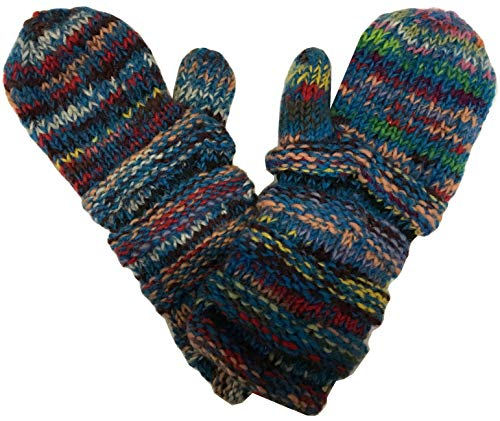 1417 Agan Traders Knit Wool Mismatched Mitten OR Hat