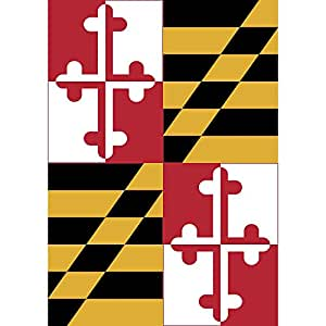 Maryland Estado Bandera 18x 13rectangular doble Applique pequeño jardín bandera