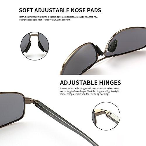 3aef0984b6df0 SUNGAIT Ultra Lightweight Rectangular Polarized Sunglasses 100% UV  protection