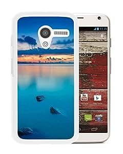 Blue Lake Sunset (2) Durable High Quality Motorola Moto X Phone Case