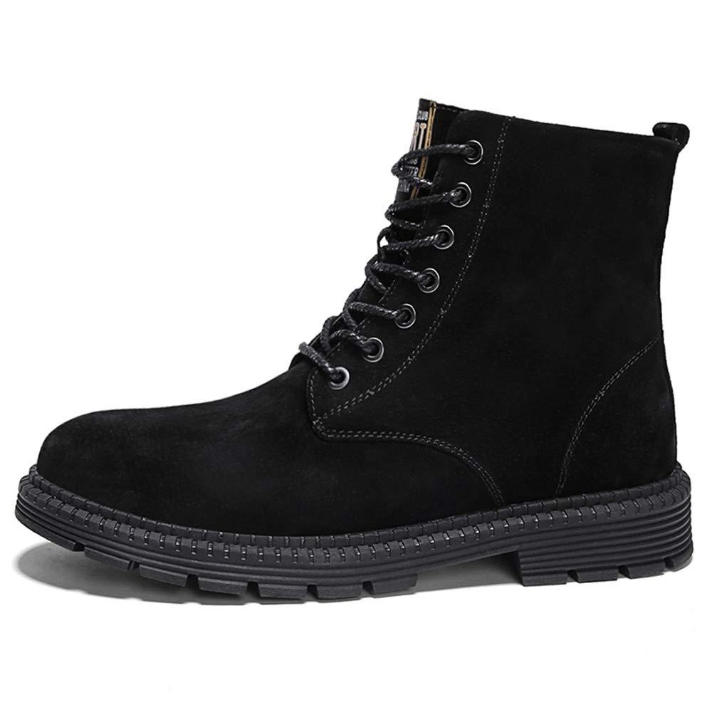 HILOTU Botas de Gamuza Chukka Zapatos de Vestir de Cuero con ...