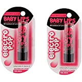 Baby Lips Electro, Pink Shock, 3.5g (Pack of 2)- For Women