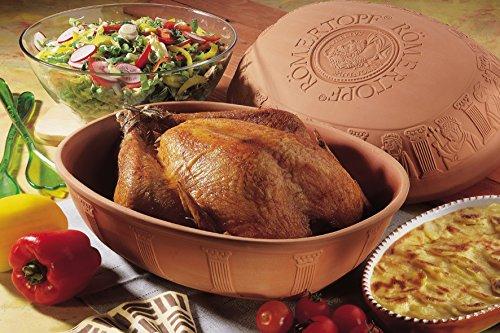 Romertopf by Reston Lloyd Classic Series Glazed Natural Cooker/Roaster, Turkey Extra Large Size by Rmertopf Germany (Image #3)