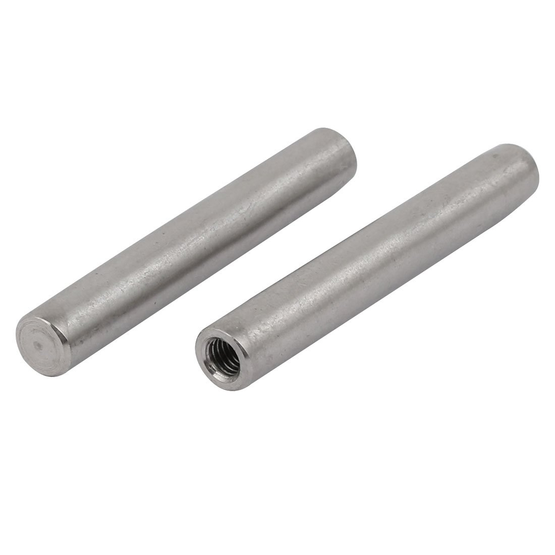 Sourcingmap 304 Stainless Steel M6 Female Thread 10mm x 70mm Cylindrical Dowel Pin 2pcs a17110100ux0133
