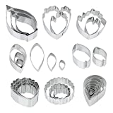 rose leaf cookie cutter - Ogori 26 Pcs Stainless Steel Flower Cookie Cutters Set,Fantastic Cake Decorating Kit, Fondant Cutter Cake DIY Tools,Best Modelling Tools For Holiday Party Wedding And Birthday