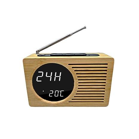 QUUY Reloj Digital, Radio Reloj Despertador, Sonidos ...