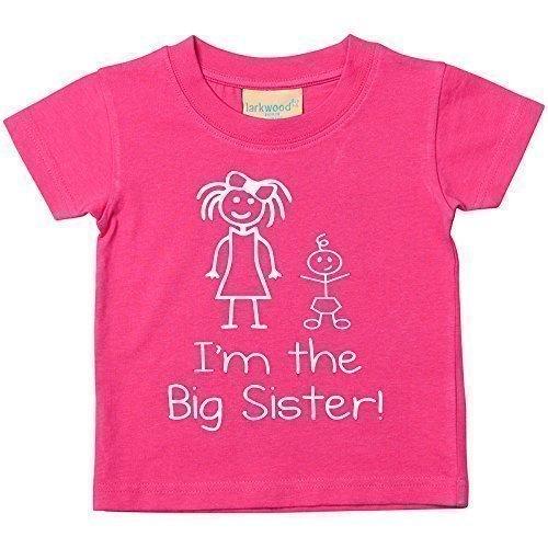 I'm The Big Schwester Pink T-shirt Baby Kleinkind Kinder Verfügbar in Größen 0-6 Monate wird 14-15 Jahre Neu Baby Schwester Geschenk - 12-18 Monate, Rosa, 12-18 Monate 60 Second Makeover Limited