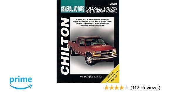 General motors full size trucks 1988 98 repair manual chilton general motors full size trucks 1988 98 repair manual chilton automotive books chilton 9780801991028 amazon books fandeluxe Image collections