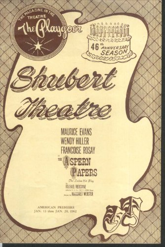 Shubert Theatre New Haven program Aspern Papers 1962 from The Jumping Frog