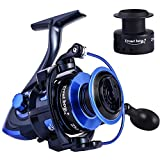Cheap TROUTBOY Spinning Fishing Reel -Unique Main Body, T6 Doluble Anodized Aluminum Spool,13+1 Double Shielded Stainless Steel Ball Bearings, Free Spare Graphite Spool