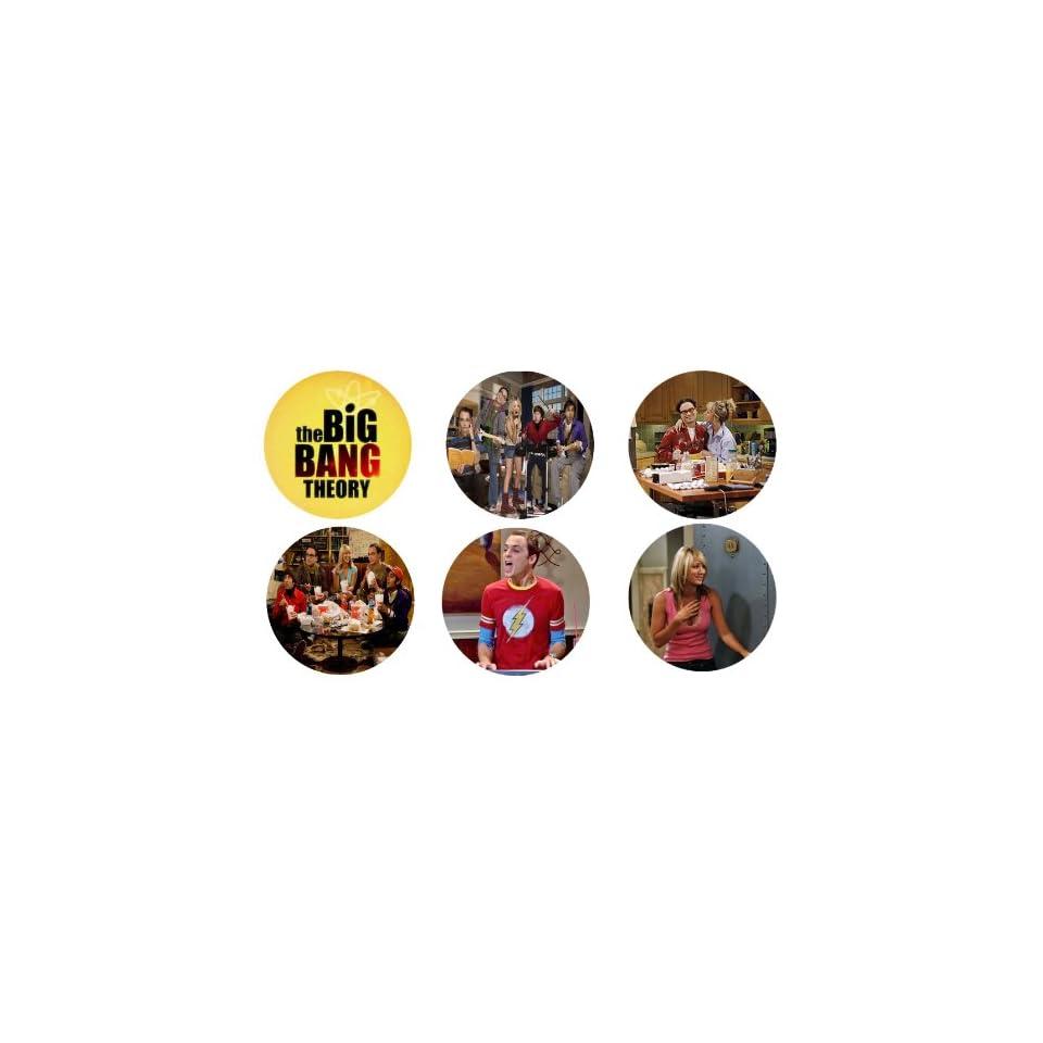 Set of 6 the Big Bang Theory 1.25 Badge Pinback Button