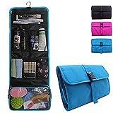 Travel Hanging Toiletry Bag for Men Women Travel Kit Shaving Bag Waterproof Wash Bag Makeup Organizer for Bathroom Shower Blue